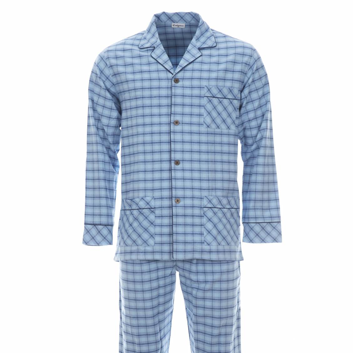 Pyjama chaud eminence veste boutonn e et pantalon 100 for Pyjama homme chaud
