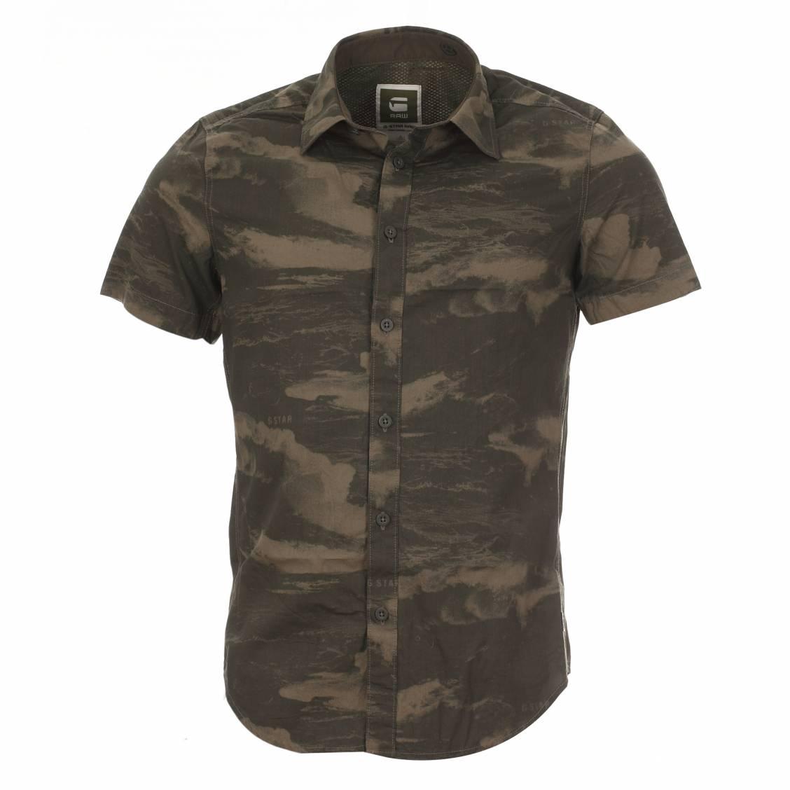 chemise homme manches courtes troupman g star camouflage rue des hommes. Black Bedroom Furniture Sets. Home Design Ideas