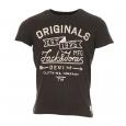 Tee-shirt col rond Jack&Jones gris foncé estampillé