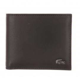 Portefeuille Lacoste en cuir noir à porte-cartes amovible
