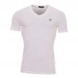 Tee-shirt Antony Morato blanc à col V estampillé sur la poitrine
