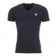 Tee-shirt Antony Morato bleu marine à col V estampillé sur la poitrine