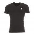 Tee-shirt Antony Morato noir à col V estampillé sur la poitrine
