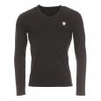Tee-shirt manches longues Antony Morato noir à col V estampillé sur la poitrine