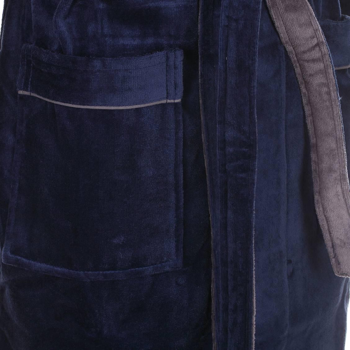 peignoir Mariner éponge bleu marine