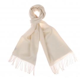 Echarpe Pierre Cardin 100% laine vierge blanc ivoire