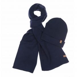 Coffret cadeau : Bonnet et écharpe Selected bleu navy