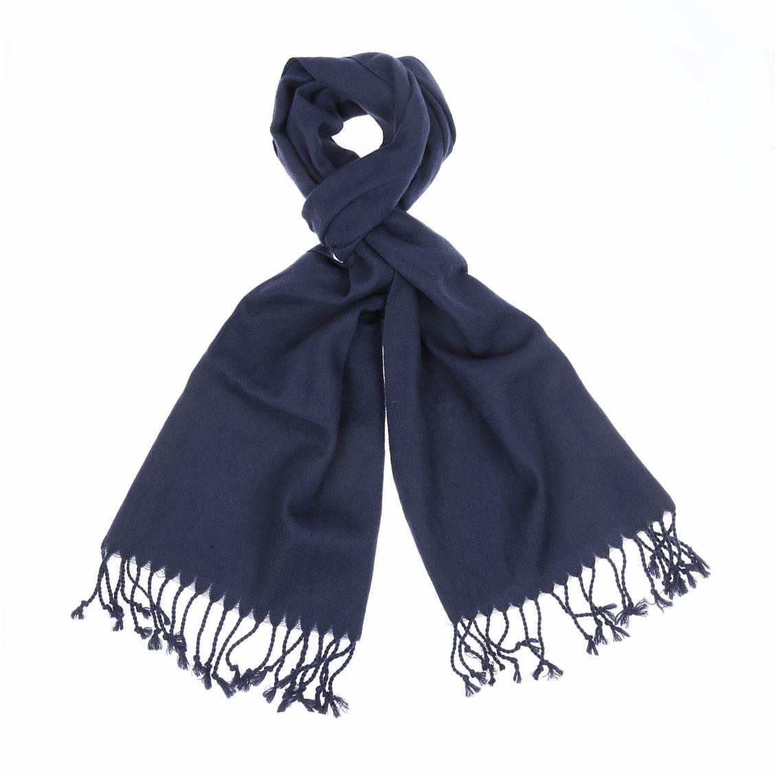Echarpe en laine  bleu navy