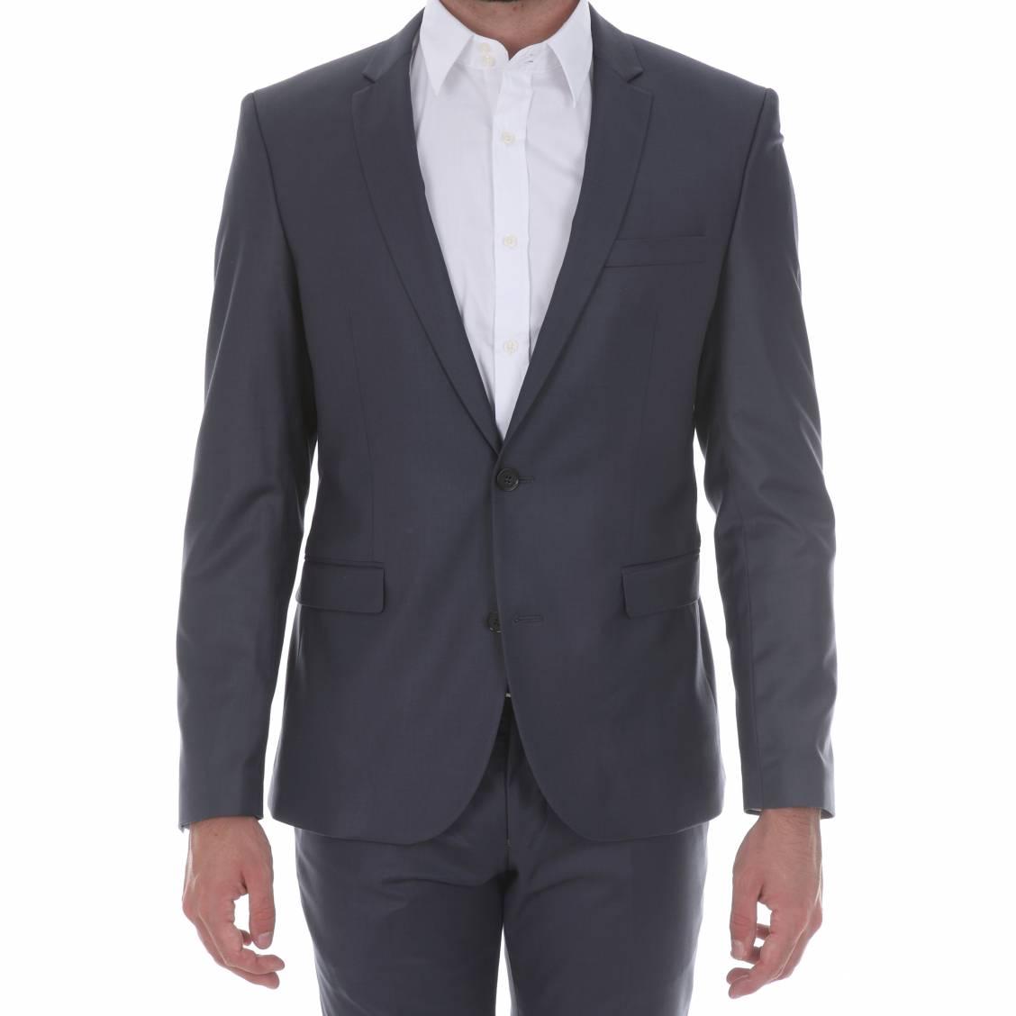 veste de costume selected logan bleu indigo rue des hommes. Black Bedroom Furniture Sets. Home Design Ideas