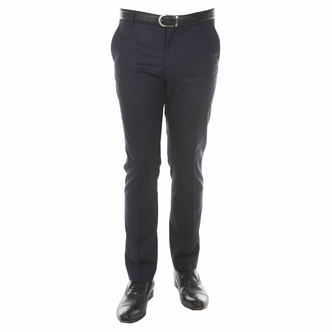 Pantalon de costume cintré selected bleu marine
