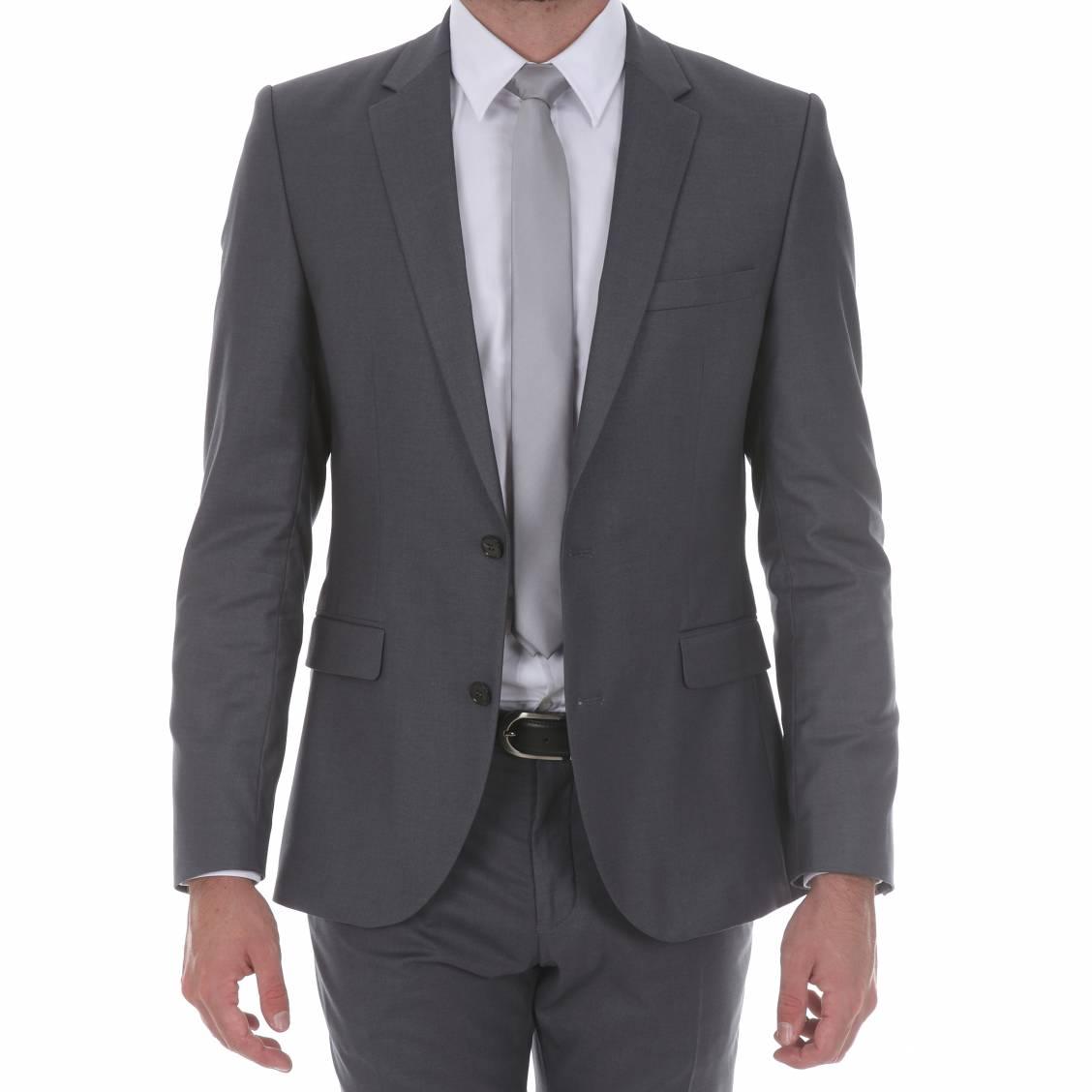 veste de costume selected logan gris fonc rue des hommes. Black Bedroom Furniture Sets. Home Design Ideas