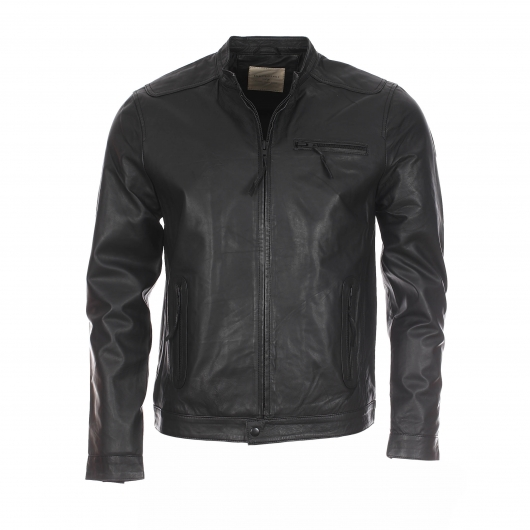 Blouson en cuir Selected