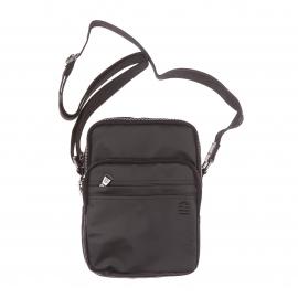 Sacoche 4 poches Serge Blanco en toile enduite noire