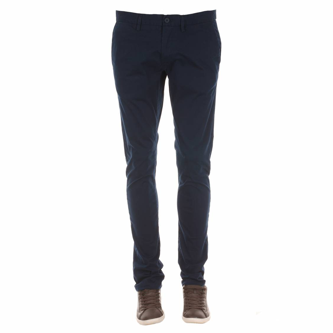 pantalon chino teddy smith stretch bleu marine