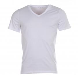 Lot de 3 Tee-shirts Col V Tommy Hilfiger en coton stretch blanc