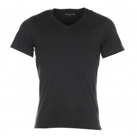 Lot de 3 Tee-shirts Col V Tommy Hilfiger en coton stretch noir
