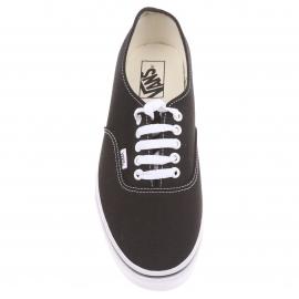 Baskets Vans Authentic en toile noire à semelles blanches