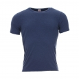 Tee-shirt chaud en modal et acrylique bleu jean