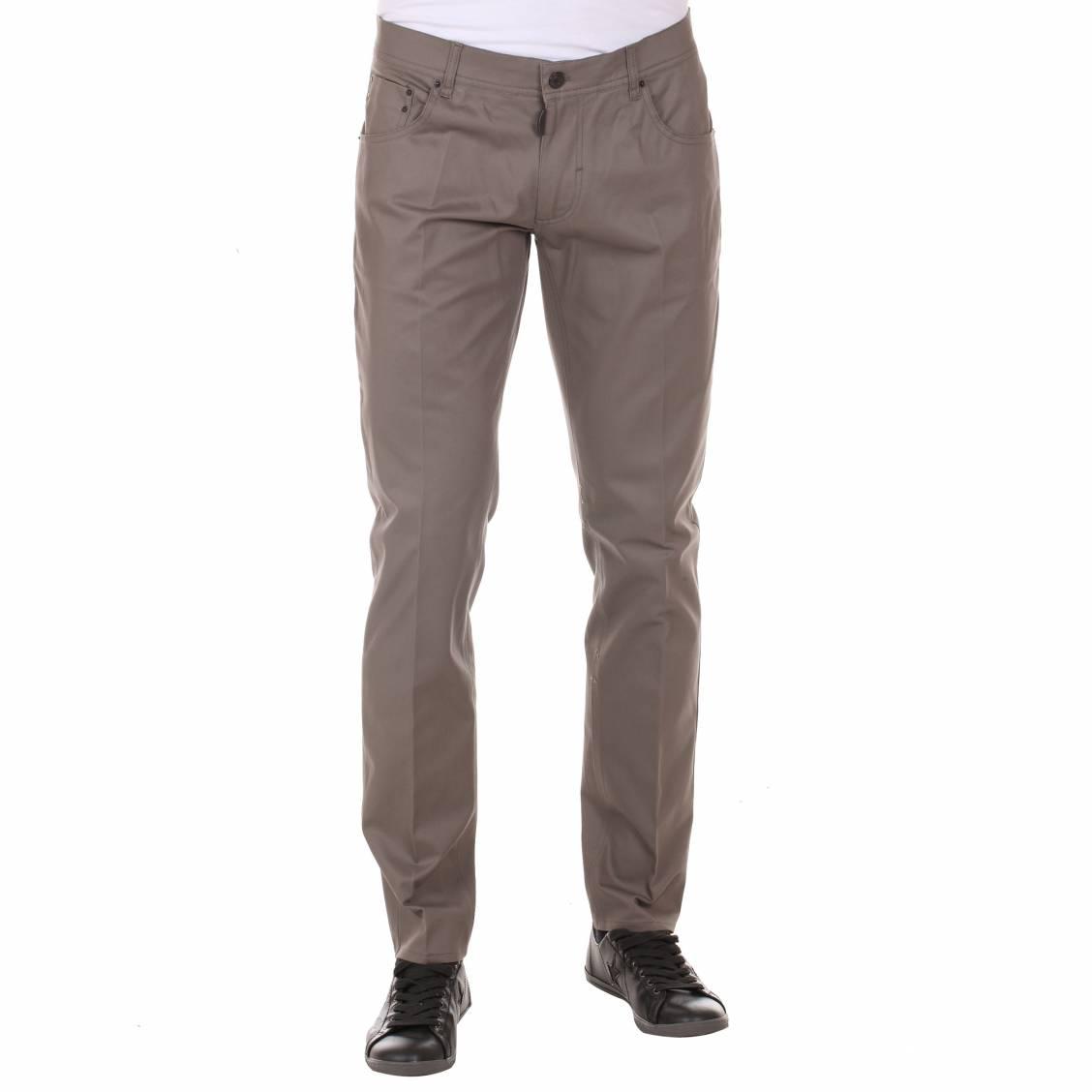 Pantalon cintr antony morato en coton taupe rue des hommes - Cintre pour pantalon ...