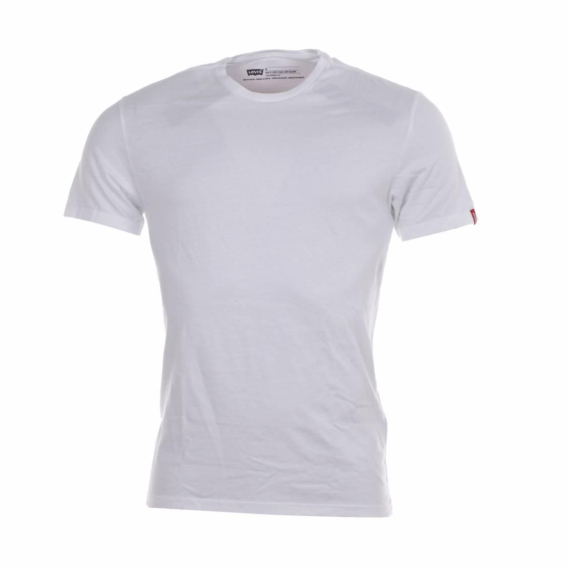 lot de 2 tee-shirt à col rond Levis blanc et bleu marine