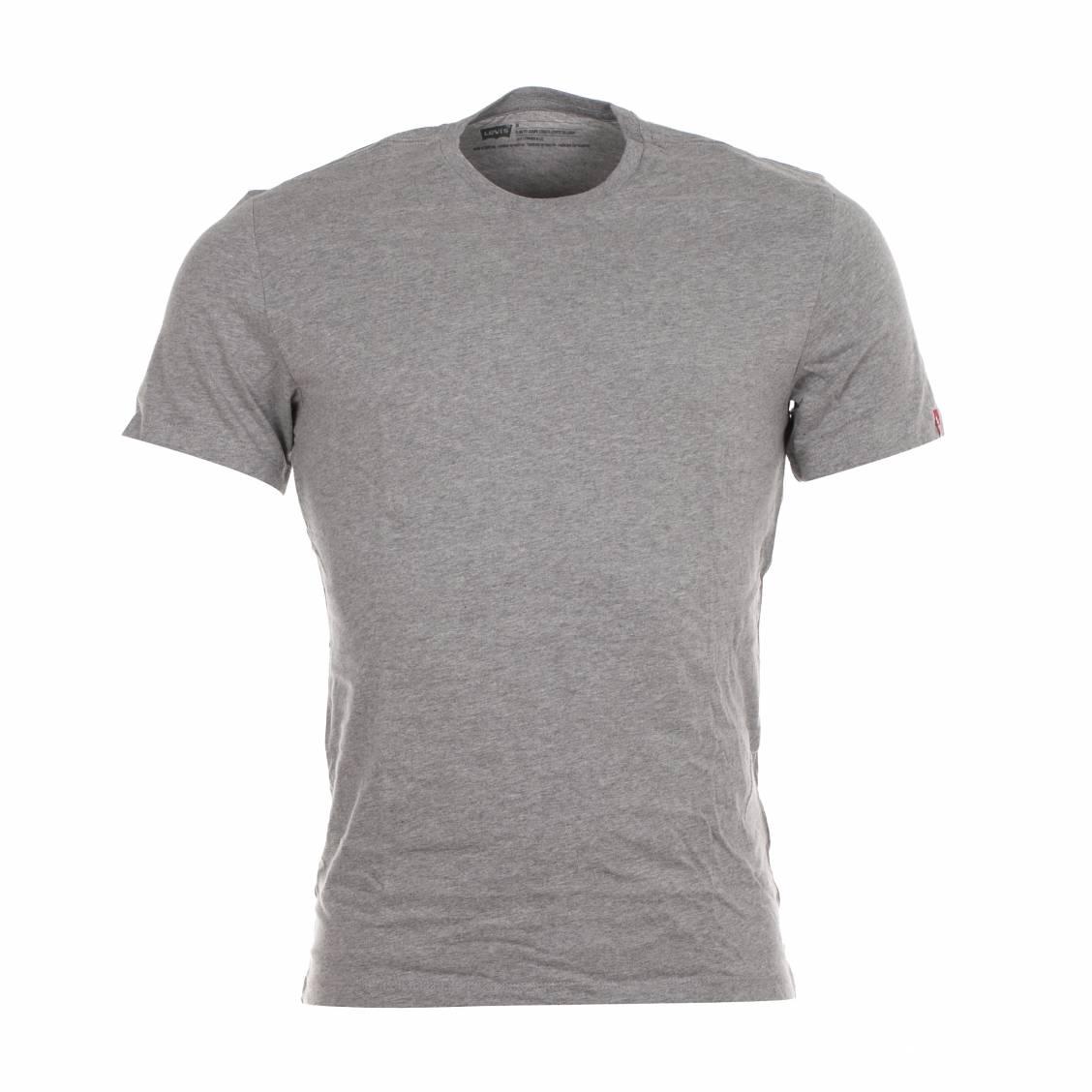 lot de 2 tee shirts col rond levi 39 s en coton gris et blanc. Black Bedroom Furniture Sets. Home Design Ideas