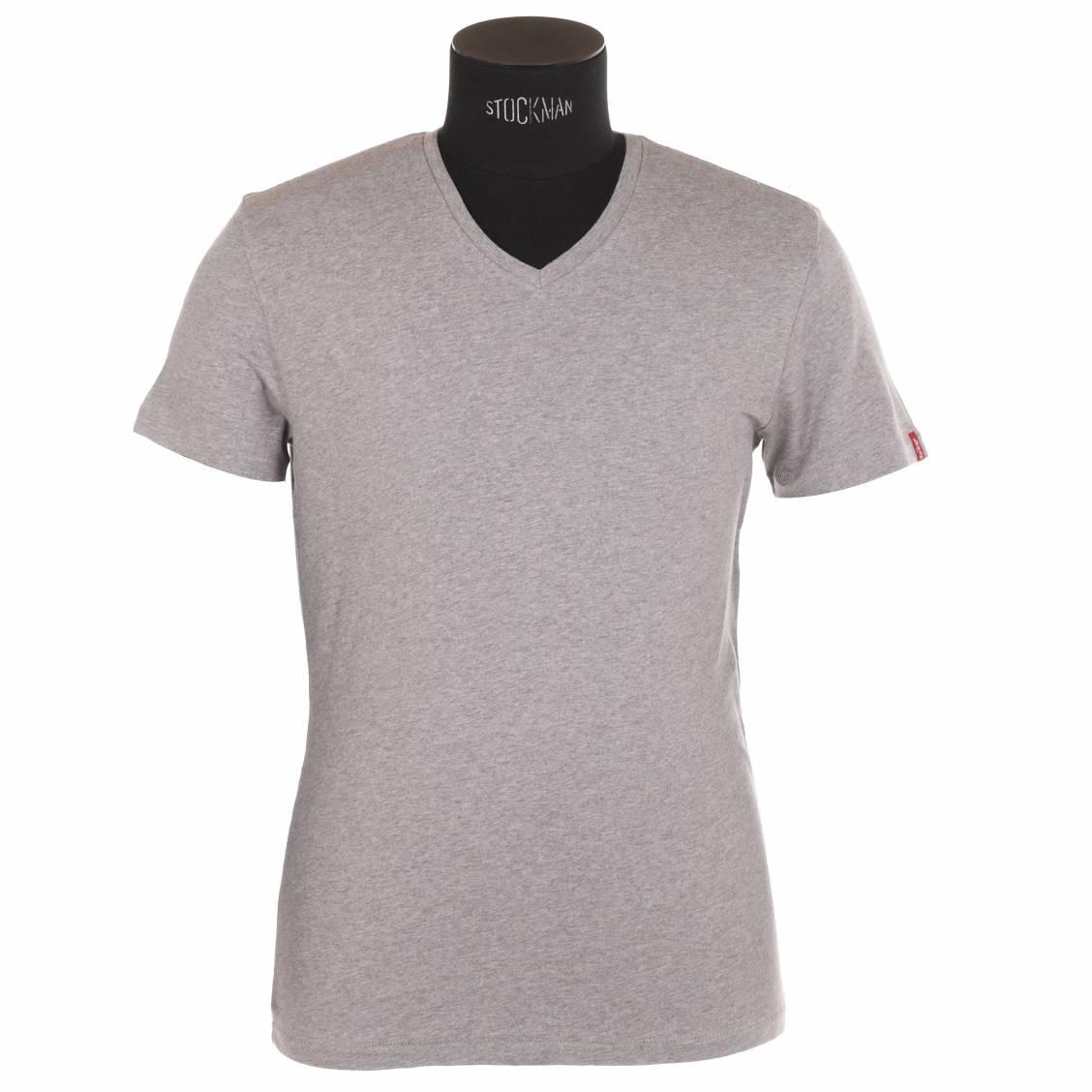 lot de 2 tee-shirts col V levi's en coton