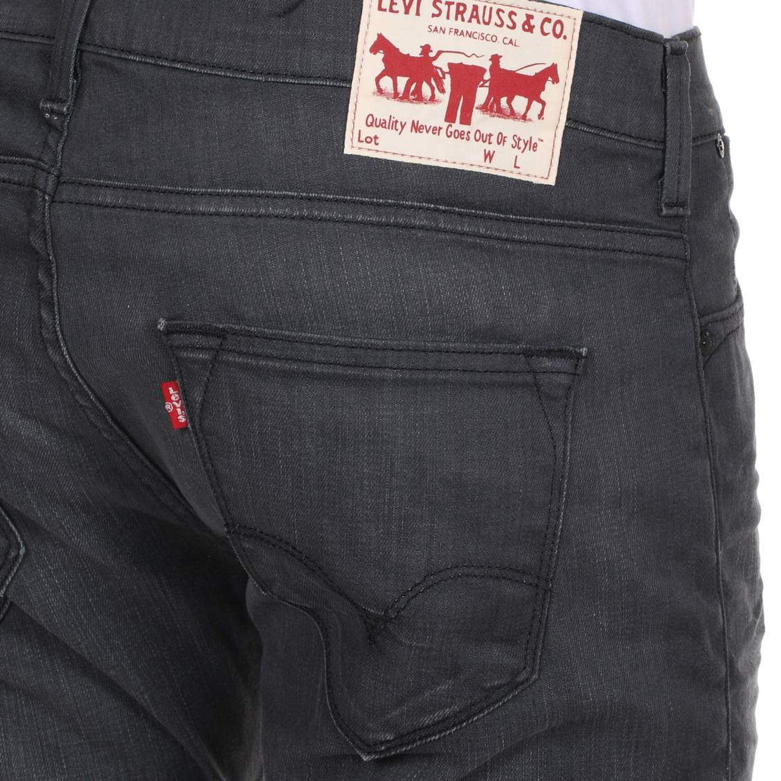 Jean Levi's® 504 Straight Tapere gris