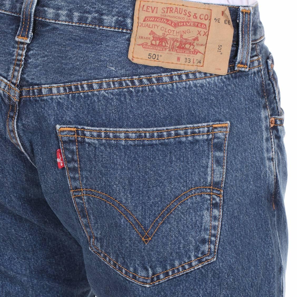 Jean Levi's 501 Original Normal Fit bleu - poche arrière
