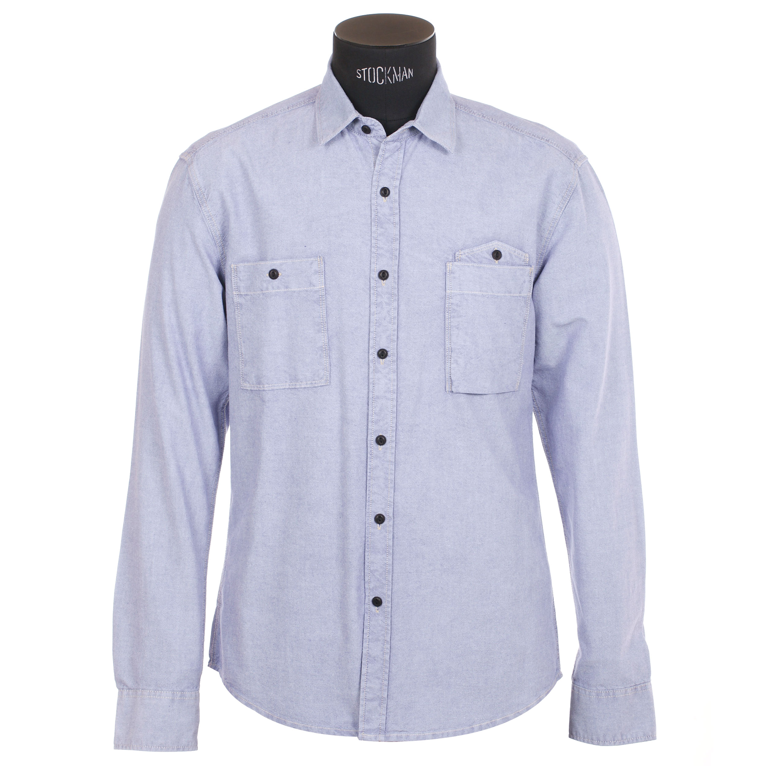 Chemise homme  bleu clair, effet jean