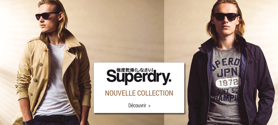 Nouvelle collection Superdry homme