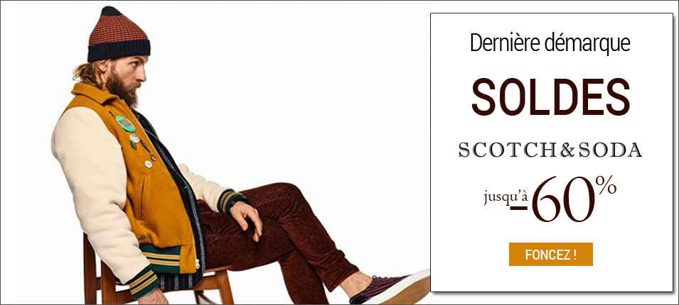 Soldes homme Scotch and soda