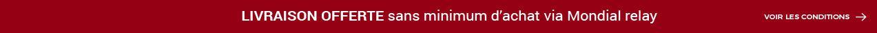 Livraison Offerte via Mondial Relay sans minimum d'achat