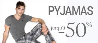 Soldes pyjamas homme jusqu'à -50%