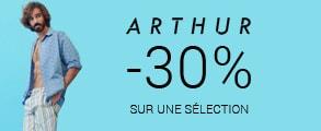 -30% sur une sélection Arthur avec le code RELAX