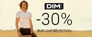 -30% sur une sélection Dim avec le code RELAX