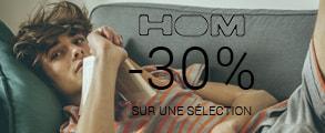 -30% sur une sélection Hom avec le code RELAX